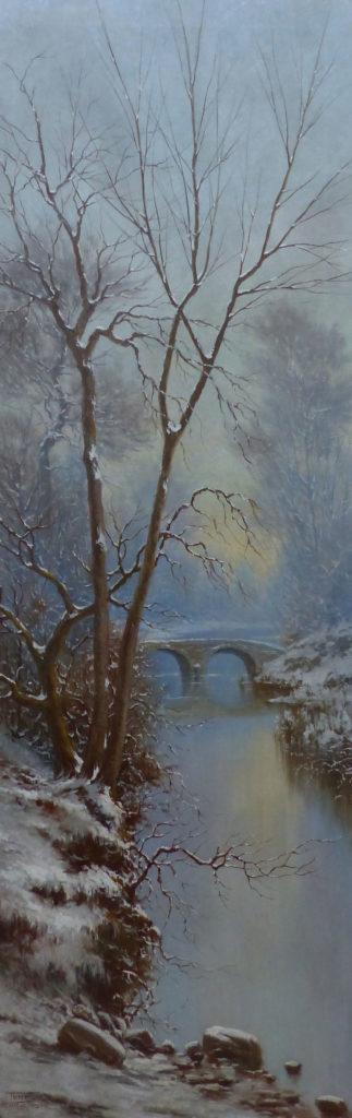 Tableau paysage d'hiver restauré | Atelier de Montavel