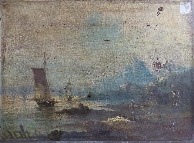 tableau marin avant la restauration | Atelier de Montravel