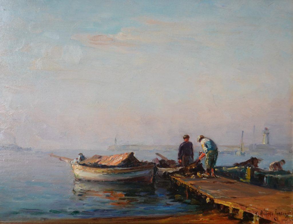 Tableau marine, restauré par l'atelier