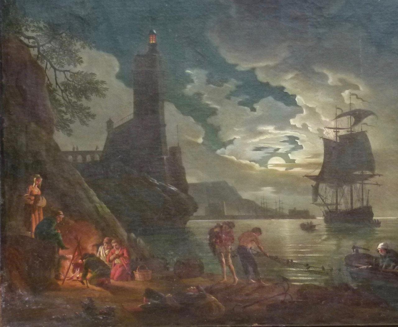 Avant la restauration du tableau de Vernet | Atelier de Montravel