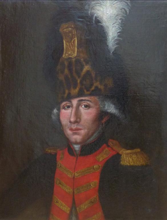 avant la restauration du portrait de militaire napoleonien | Atelier de Montavel