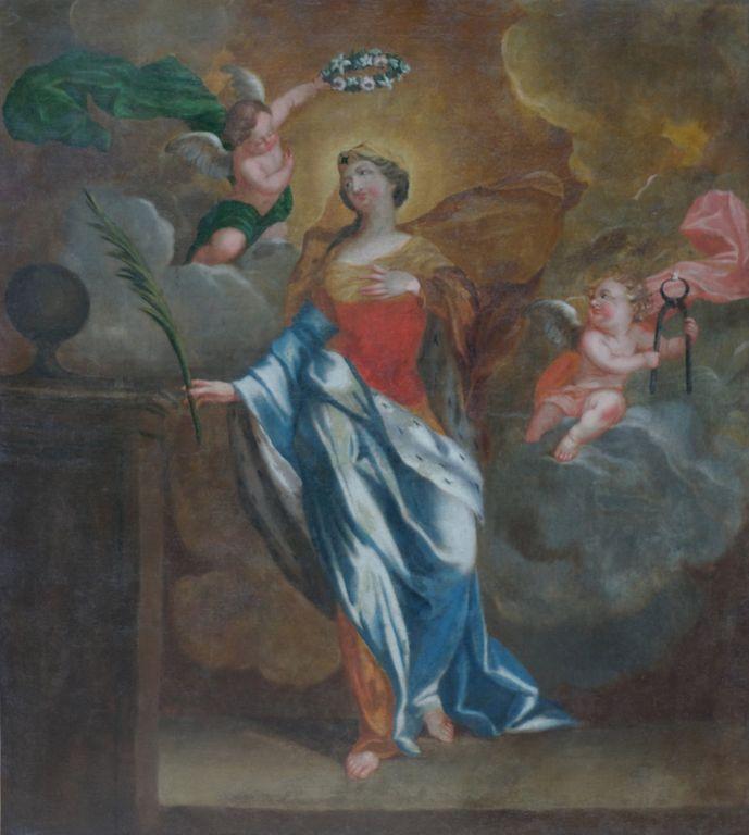 tableau du couronnement après la restauration | Atelier de Montravel