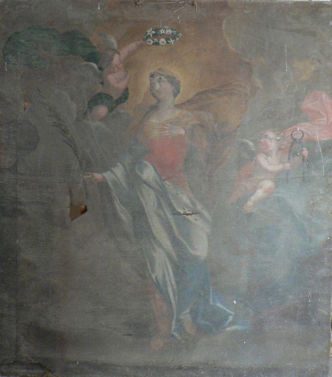 tableau du couronnement avant la restauration | Atelier de Montravel