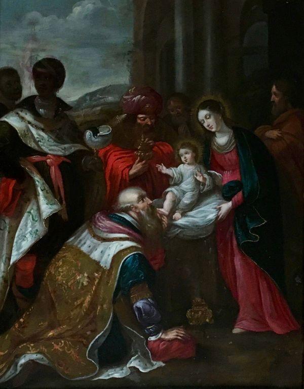 Après la restauration du tableau de la présentation de Jésus Atelier de Montravel